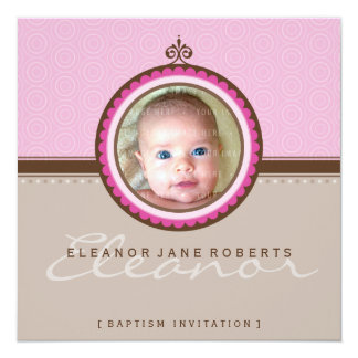 PHOTO BAPTISM INVITES :: fanciful 3SQ
