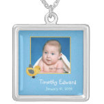 Photo Birth Annoucement Cute Baby Chick Personalised Necklace