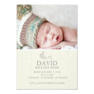 Photo Birth Announcement | Bird Announcer