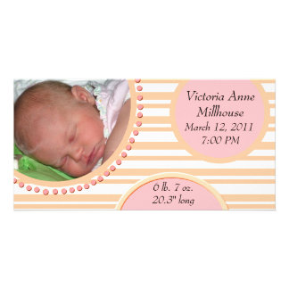 Photo Birth Announcement Customized Photo Card