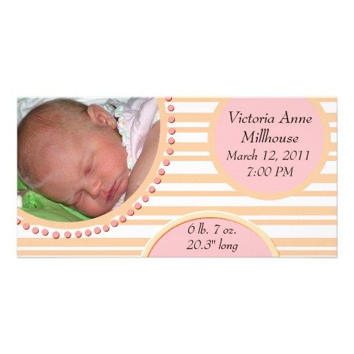 Photo Birth Announcement Picture Card