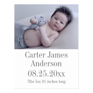 Photo Birth Announcement Postcard