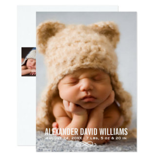 Photo Birth Announcement | Simple Elegance