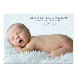 Photo Birth Announcement Simple Elegance