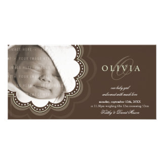 PHOTO BIRTH ANNOUNCEMENTS :: sweet bloom 5L Photo Card Template