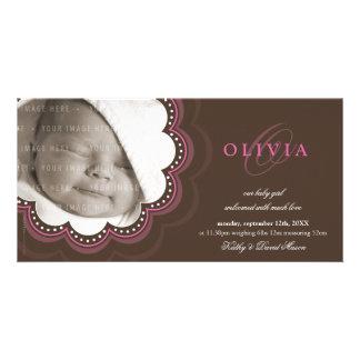 PHOTO BIRTH ANNOUNCEMENTS :: sweet bloom 7L Custom Photo Card