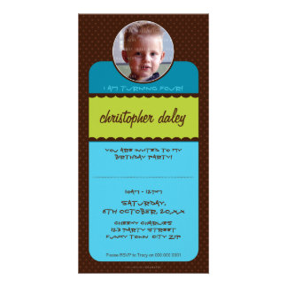 PHOTO BIRTHDAY INVITATIONS :: circus 1 Personalised Photo Card