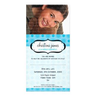 PHOTO BIRTHDAY INVITATIONS :: delicious 2 Customized Photo Card