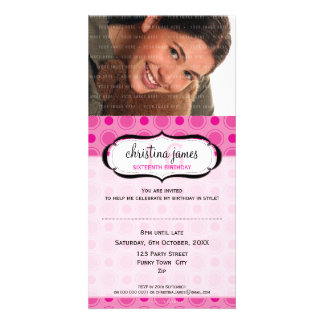 PHOTO BIRTHDAY INVITATIONS :: delicious 8 Photo Cards