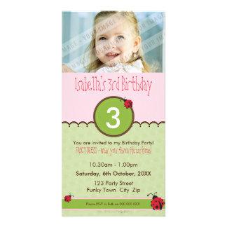 PHOTO BIRTHDAY INVITATIONS :: ladybird 4P