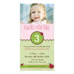 PHOTO BIRTHDAY INVITATIONS :: ladybird 4P Customized Photo Card