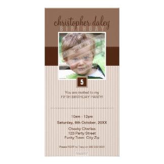 PHOTO BIRTHDAY INVITATIONS :: lovely square 7