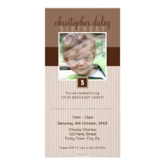 PHOTO BIRTHDAY INVITATIONS :: lovely square 7 Custom Photo Card