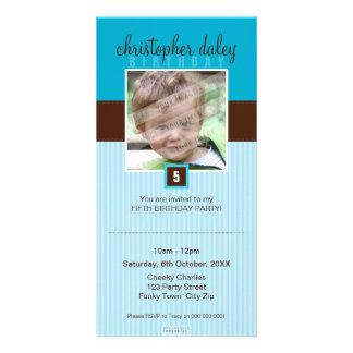PHOTO BIRTHDAY INVITATIONS :: lovely square 8 Photo Cards