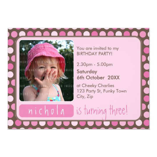 PHOTO BIRTHDAY PARTY  INVITES :: spotty 4L