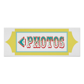 Photo Booth Arrow Sign Carnival Circus Birthday LT