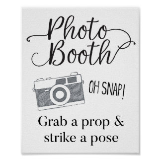 Photo Booth Sign, Wedding Sign, Wedding Decor