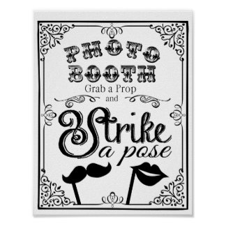 PHOTO BOOTH  wedding or party sign Poster