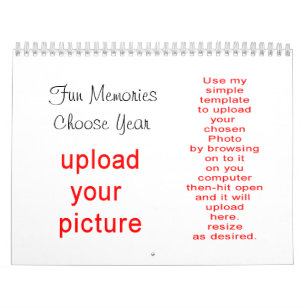 Do it yourself calendars zazzle photo calendar do it yoursef upload your pictures solutioingenieria Images