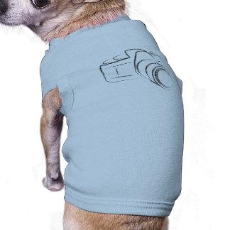 Photo Camera Sleeveless Dog Shirt