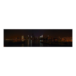 Photo canvas of New York City night skyline Poster