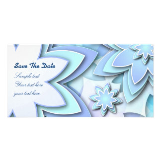 Photo Card abstract lotus flowers