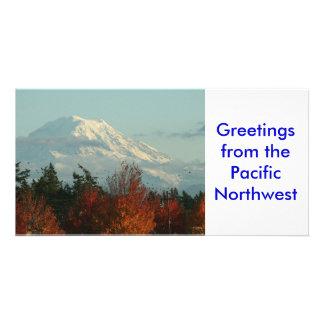 Photo Card: Autumn Mt. Rainer Photo Card