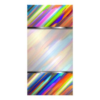Photo Card Colorful digital art splashing G391