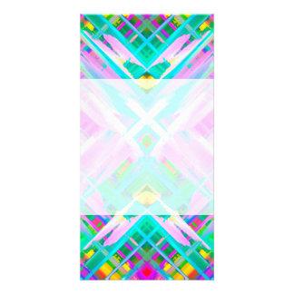 Photo Card Colorful digital art splashing G473
