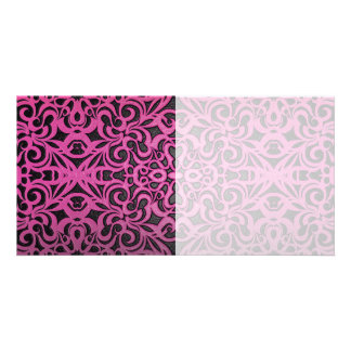 Photo Card Floral Abstract