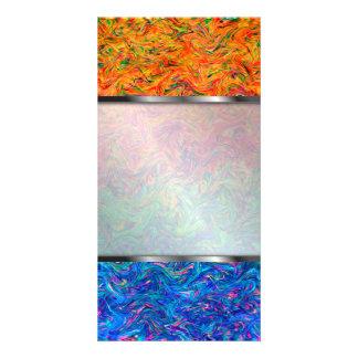 Photo Card Fluid Colors