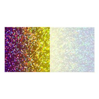 Photo Card Glitter Graphic Background
