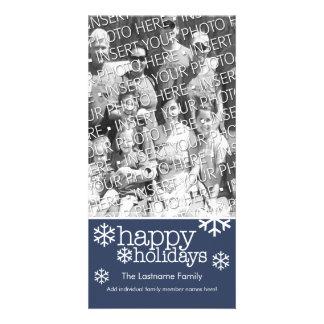 Photo Card: Happy Holidays with 1 large photo Personalised Photo Card