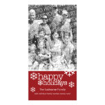 Photo Card: Happy Holidays with 1 large photo Photo Greeting Card