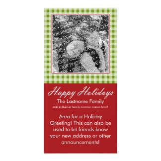 Photo Card: Happy Holidays! with message area