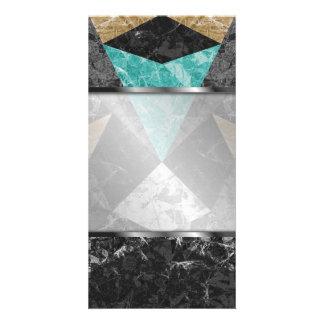 Photo Card Marble Geometric Background G430