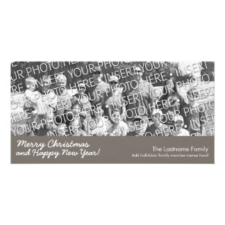 Photo Card: Merry Christmas with 1 large photo Picture Card
