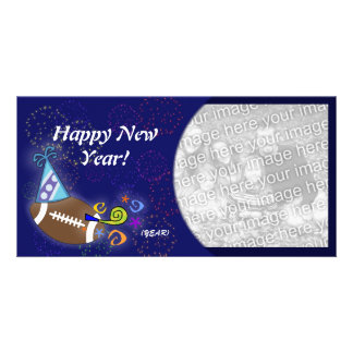 Photo Card - New Year Football