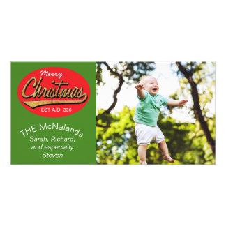 """Photo Card Retro """"Merry Christmas EST A.D. 336"""""""