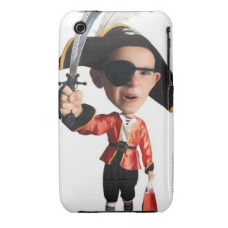 photo caricature of a caucasian boy in his Case-Mate iPhone 3 cases