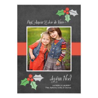 Photo Cartes de Noël Paix Amour et Joie