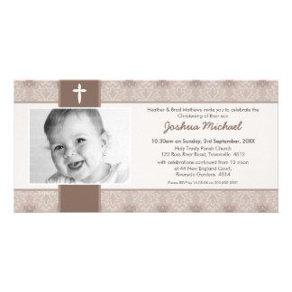 PHOTO CHRISTENING INVITATIONS :: pretty 4L Customised Photo Card