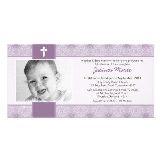 PHOTO CHRISTENING INVITATIONS :: pretty 5L Customized Photo Card