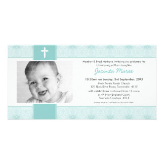 PHOTO CHRISTENING INVITATIONS :: pretty 6L Photo Cards
