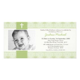 PHOTO CHRISTENING INVITATIONS :: pretty 8L Custom Photo Card