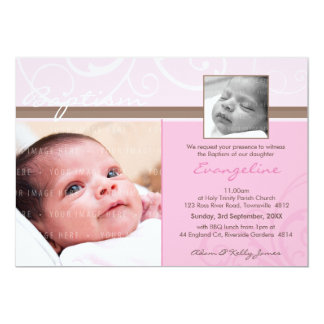 PHOTO CHRISTENING INVITES :: charity 3L