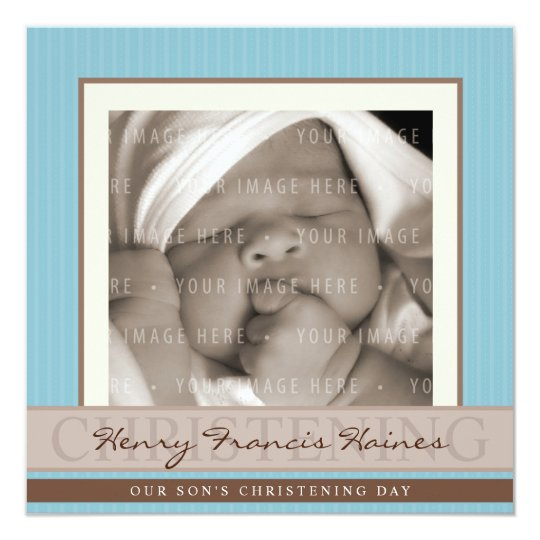 PHOTO CHRISTENING INVITES :: elegance 8SQ