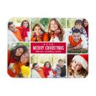 Photo Christmas Collage   Custom Colour Magnet