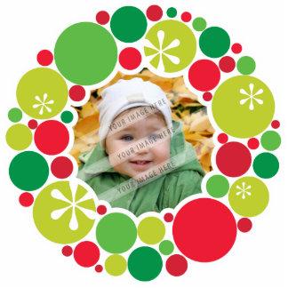 PHOTO CHRISTMAS DECORATION :: bauble wreath 2 Photo Sculpture Decoration