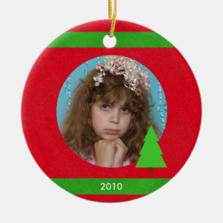 Photo Christmas Ornament with Year
